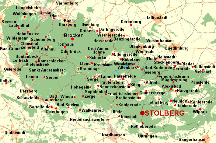 harz landkarte Deutschland Harz   Karte vom Harz, Landkarte Harz   Stadtplan und  harz landkarte
